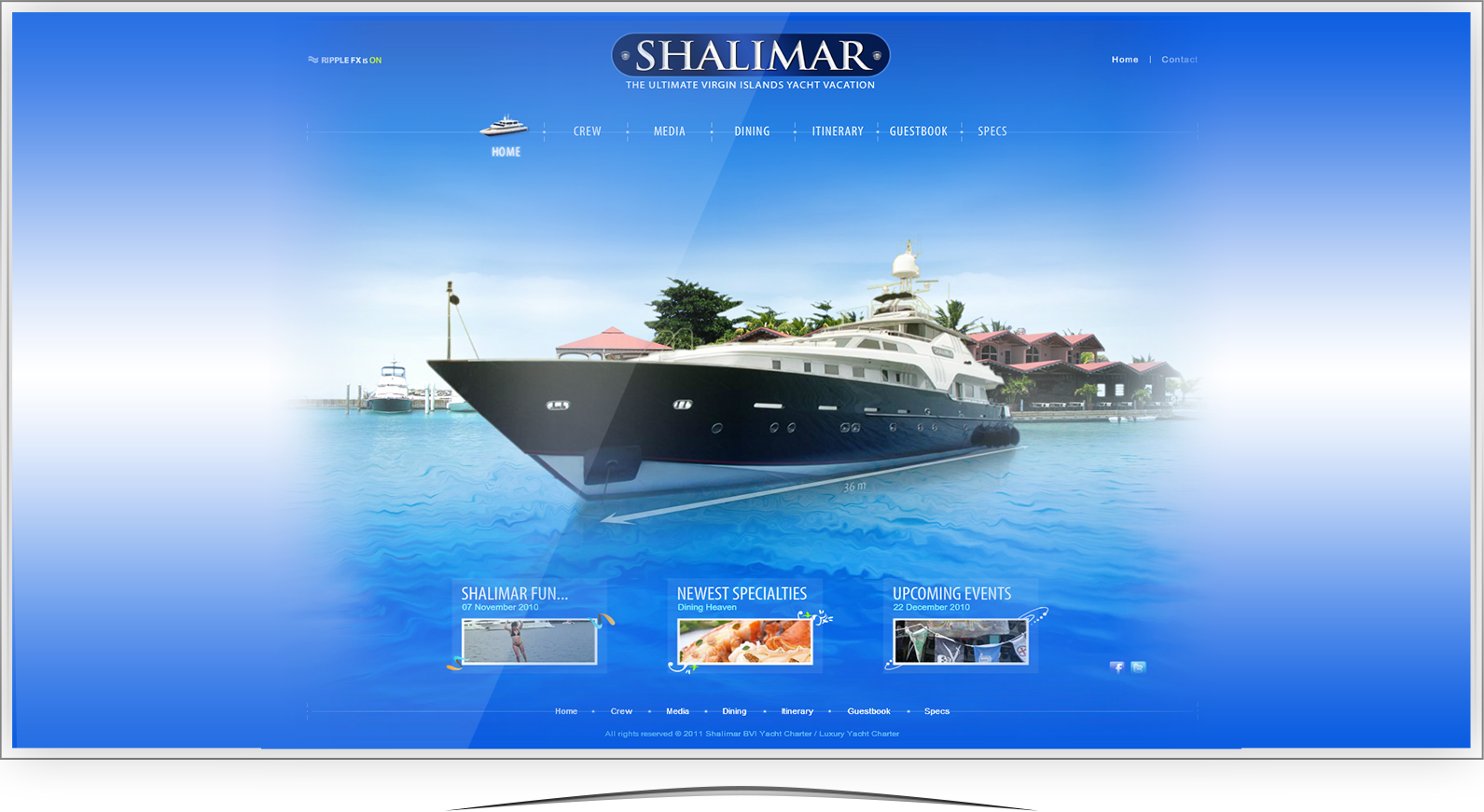 Shalimar Yacht Website